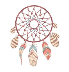 Romantic dream catcher vector