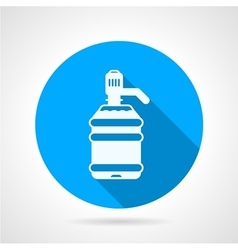 Round icon for white bottle vector image