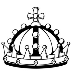 Royal crown stencil vector