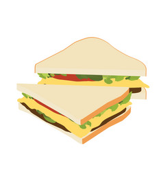 sandwich isometric view vector image