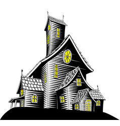 Scary haunted house vector
