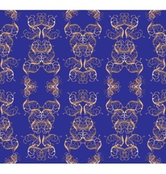 Seamless golden pattern vector
