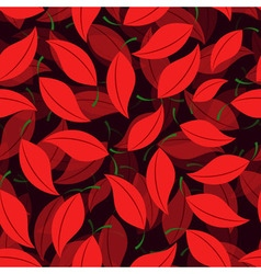 Seamless of cherry leaves vector