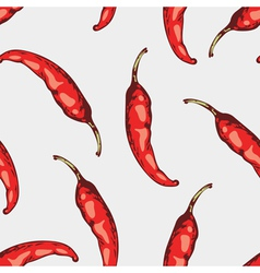 Seamless pattern with hand drawn spicy chili vector image vector image