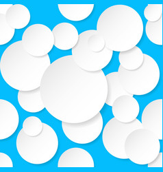 Seamless texture circles for design on blue vector