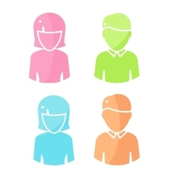Set of People Characters Color Pictograms vector image