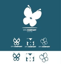 Spa logo butterfly vector image