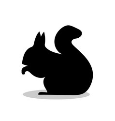 squirrel rodent mammal black silhouette animal vector image