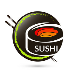 Sushi japanese food symbol vector