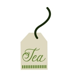 tea bag isolated icon design vector image