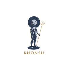 the egyptian god khonsu emblem vector image