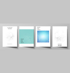 the layout of a4 format cover mockups vector image
