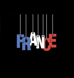 The word frace hang on the ropes vector