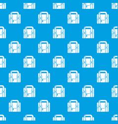 travel bag retro pattern seamless blue vector image