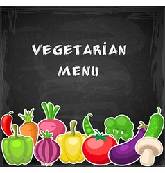 Vegetarian background with vegetables vector image