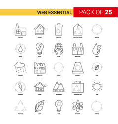 Web essential black line icon - 25 business vector