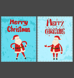 winter holidays greeting card with santa claus vector image