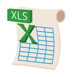 XLS icon cartoon style vector image