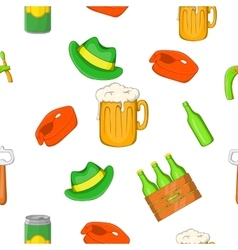 Beer festival pattern cartoon style vector image vector image