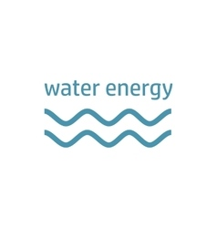 green energy logo wind stream vector image vector image