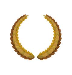 laurel wreath winner award victory vector image