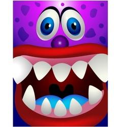 Monster head vector image vector image