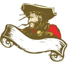 Pirate with Banner vector image vector image