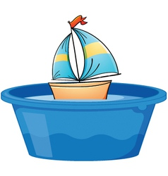 Toy Sail boat vector image