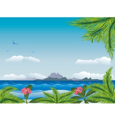 Tropical island in the ocean3 vector image vector image
