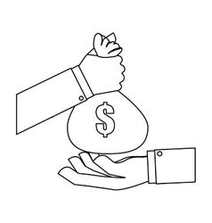 Bag of money icon vector