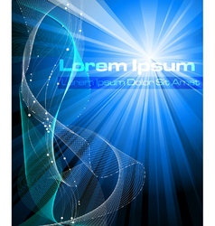 Blue abstract fantasy background vector image vector image