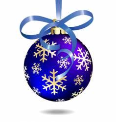 Christmas ball illustration vector image vector image