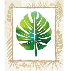 color leaf in a frame vector image vector image
