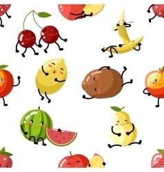 Cute fruit apple cherry watermelon kiwi strawberry vector image vector image