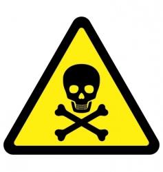 deadly danger sign vector image