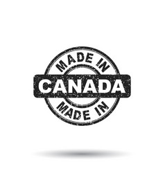 made in canada stamp on white background vector image vector image