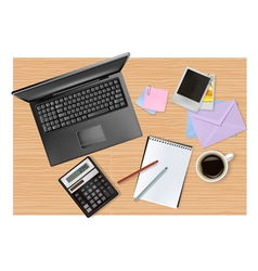 office supplies on the table vector image vector image