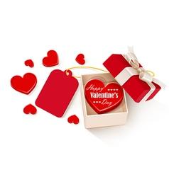 Open gift box vector image vector image