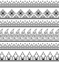 Seamless Thai pattern repetitive design vector image