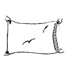 comfortable pillow icon vector image