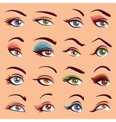Eye Makeup Icons Set vector image vector image