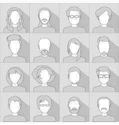 Flat people icons Set of stylish people icons in vector image vector image