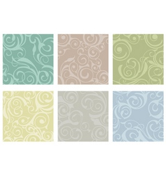 floral tiles vector image vector image