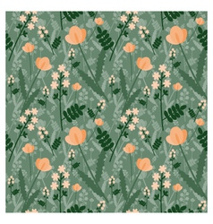 Meadow pattern vector image