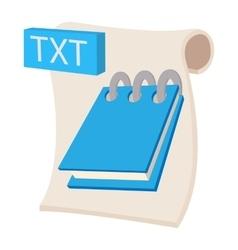 TXT icon cartoon style vector image vector image