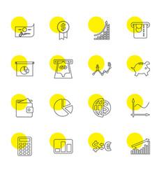 16 economy icons vector image