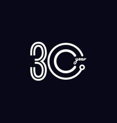 30 years anniversary celebration number template vector
