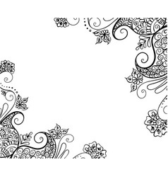 Abstract pattern of a tattoo henna vector
