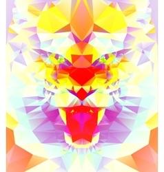 Abstract polygonal tiger vector image