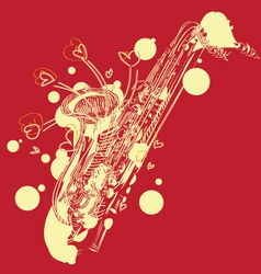 abstract sketchy sax vector image